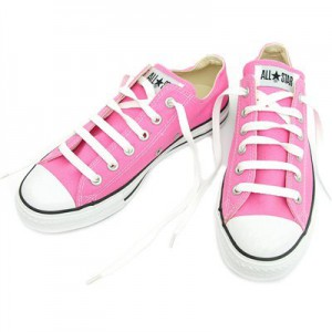 Låga rosa Converse All star