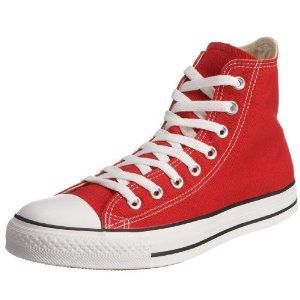 Röda höga Converse