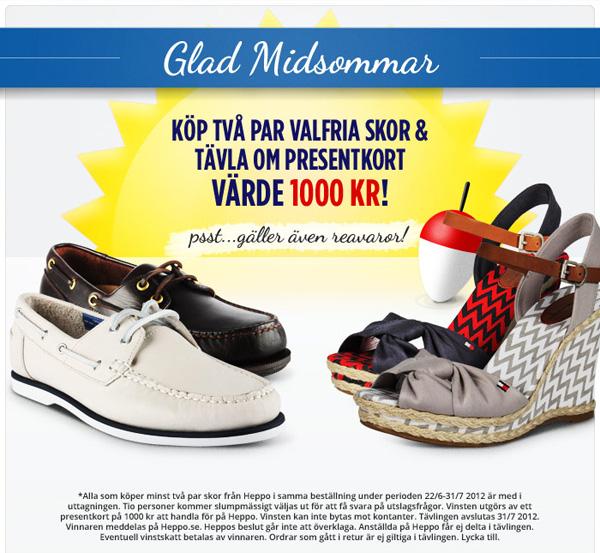 Köp minst två par skor och tävla om ett presentkort på 1 000 kr hos Heppo
