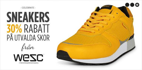 Rabatt på WESC sneakers hos Heppo