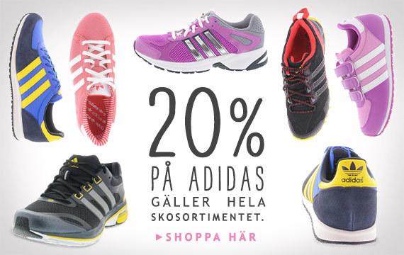 20% rabatt på alla Adidas-skor hos Brandos