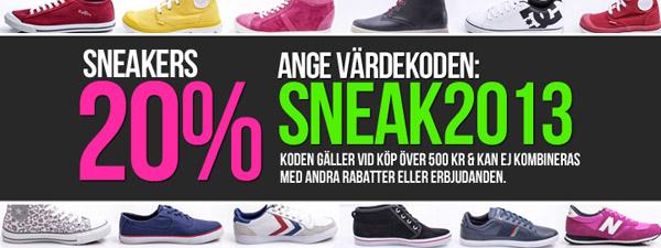 Få 20% rabatt på sneakers hos Sportamore med rabattkod