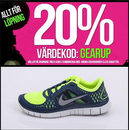 Sportamore ger dig 20% rabatt på löparskor med rabattkod