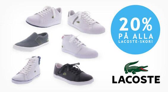 20% rabatt på Lacoste-skor hos Brandos
