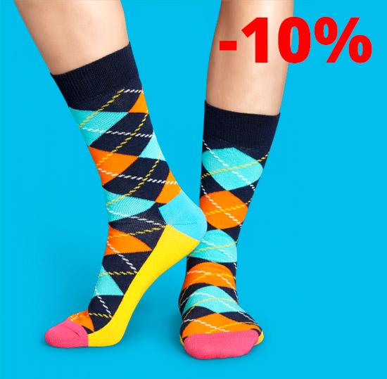 10% rabatt hos Happy socks med rabattkod