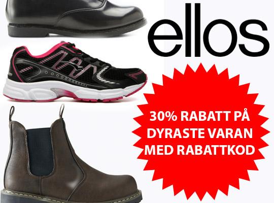 30% rabatt med rabattkod på billigaste skorna hos Ellos